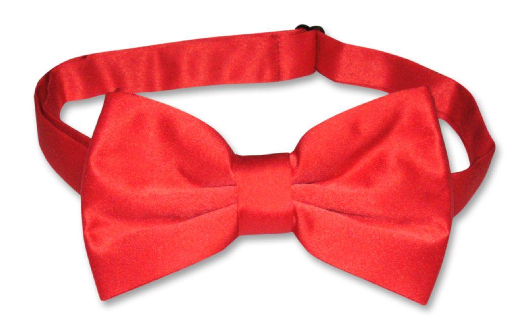 Men's SLIM FIT Dress Vest & BowTie Solid RED Color Bow Tie & Handkerchief Set for Suit or Tuxedo