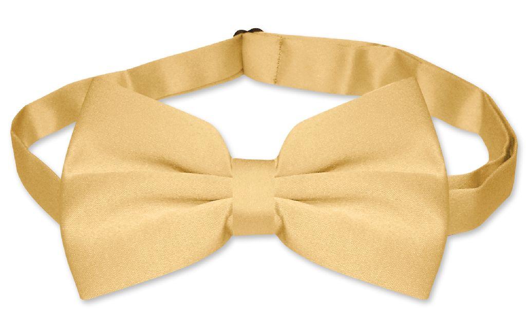 Men's SLIM FIT Dress Vest & BowTie Solid GOLD Color Bow Tie & Handkerchief Set for Suit or Tuxedo