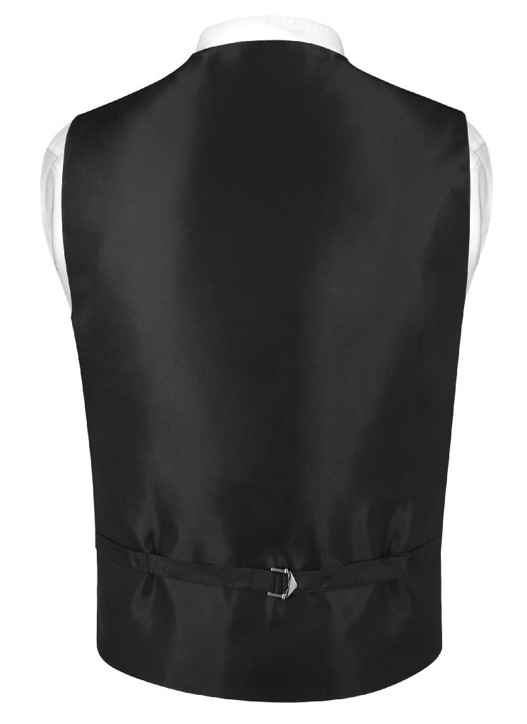 Men's Paisley Design SLIM FIT Dress Vest & Bow Tie BLACK Color BOWTie & Handkerchief Set for Suit or Tuxedo