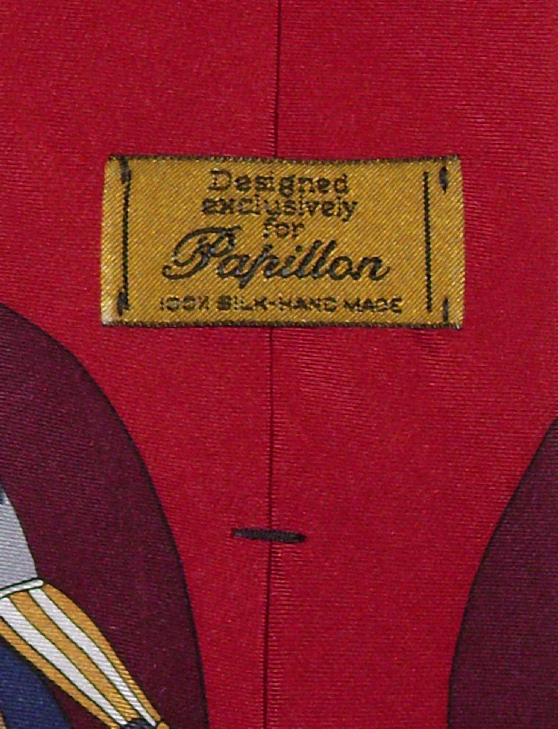 Papillon 100% SILK NeckTie Football Design Men's Neck Tie #124-1