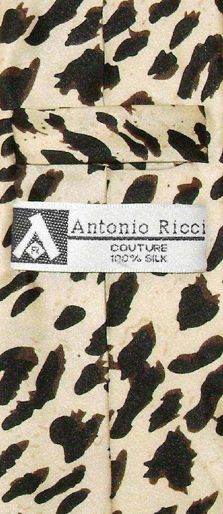 BOY'S LEOPARD Animal Skin Print Design Neck Tie 100% SILK NeckTie