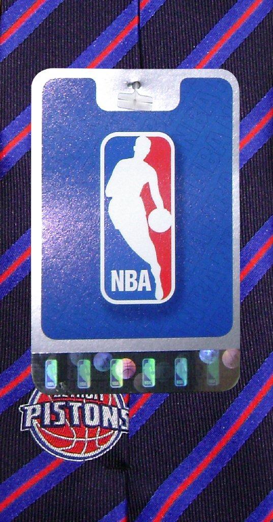 DETROIT PISTONS SILK NeckTie NBA STRIPES Men's Neck Tie
