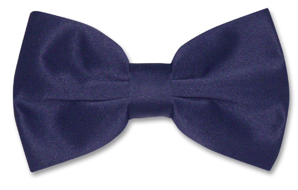 Vesuvio Napoli BOWTIE Solid NAVY BLUE Color Men's Bow Tie for Tuxedo or Suit