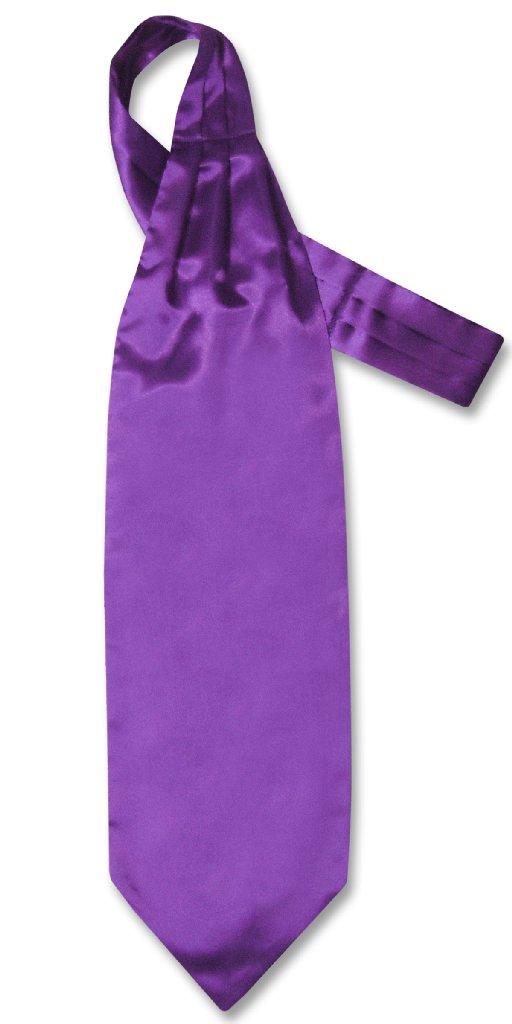 Biagio ASCOT Solid PURPLE INDIGO Color Cravat Men's Neck Tie