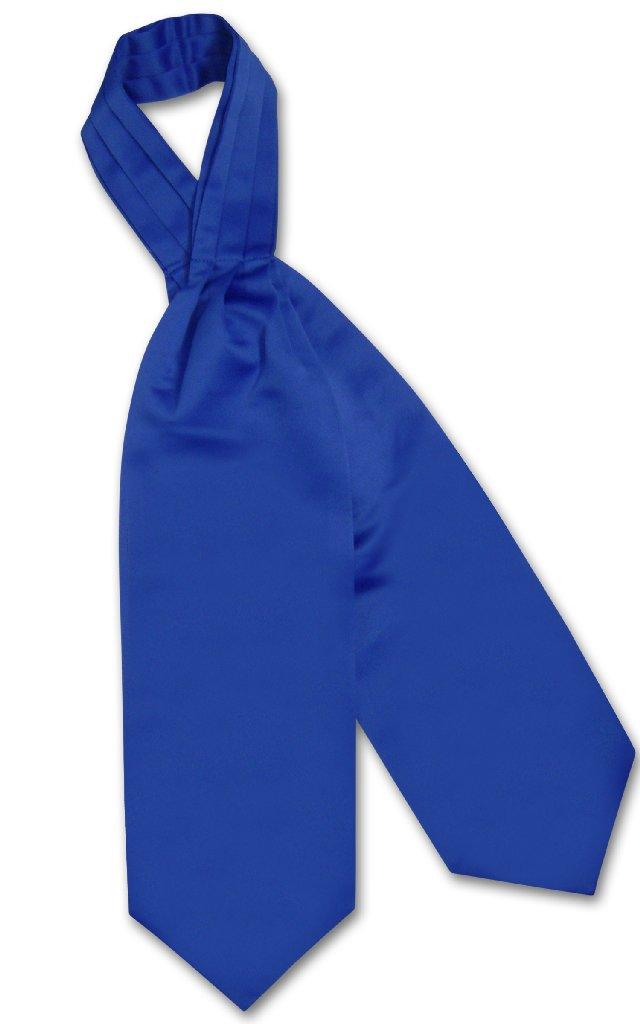 Vesuvio Napoli ASCOT Solid ROYAL BLUE Color Cravat Men's Neck Tie