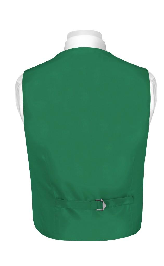 BOY'S Dress Vest & BOW TIE Solid EMERALD GREEN Color Bow Tie Set