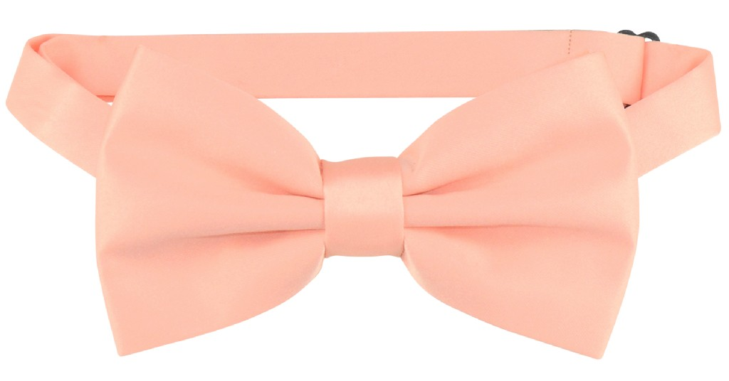 Vesuvio Napoli BOWTIE Solid PEACH Color Men's Bow Tie for Tuxedo or Suit