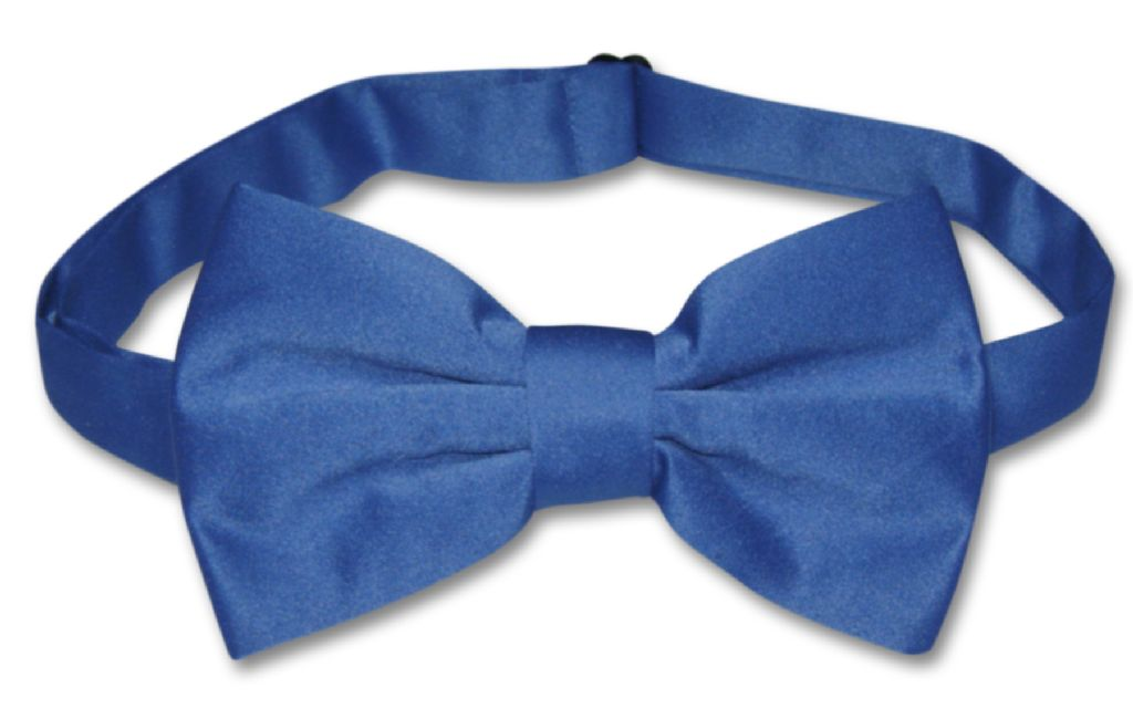 Men's Dress Vest & BowTie Solid ROYAL BLUE Color Bow Tie Set for Suit or Tuxedo