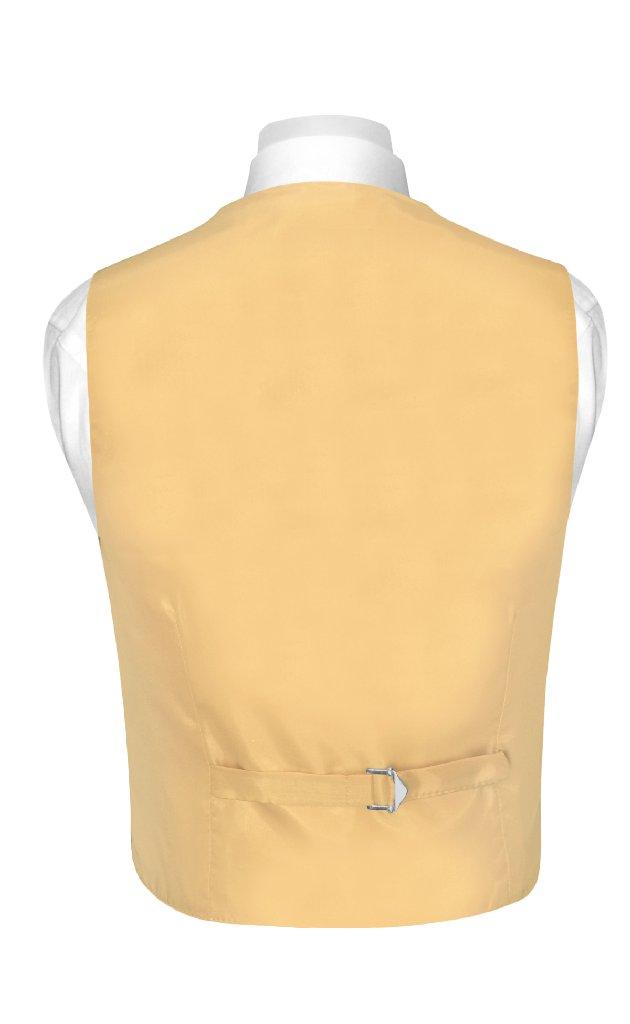 BOY'S Dress Vest & BOW TIE Solid GOLD Color Bow Tie Set