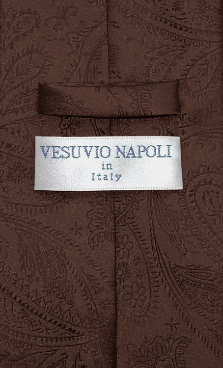 mens tie coloring page - vesuvio napoli necktie chocolate brown paisley design mens