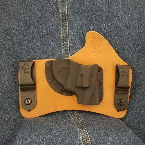 12348 CrossBreed SuperTuck RUGER LCR 9 Combat Cut Right Hand Horse