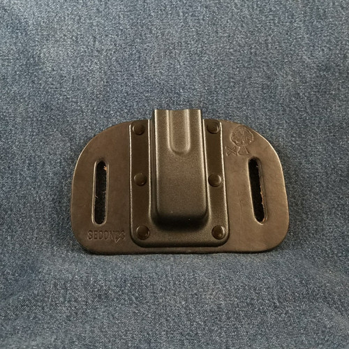 12025 CrossBreed OWB Mag Carrier Cow Single/Double Stack Straight 9mm