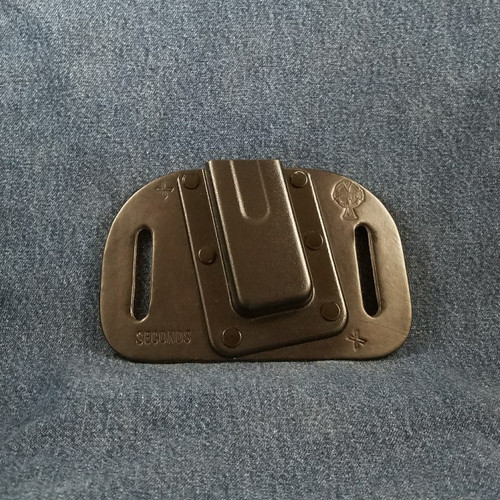 12026 CrossBreed OWB Mag Carrier Cow Single/Single Stack Left 45 ACP