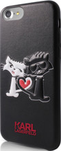 Hard-case, Karl Lagerfeld CHOUPETTE IN LOVE for iPhone 7, PU leather, Black.