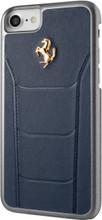 Hard-case, Ferrari 488 for iPhone 7, Genuine Leather, Blue.