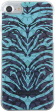 Hard-case, Cristian Lacroix PANTIGRE for iPhone 7, Plastic, Turquoise.