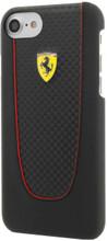 "Hard-case, Ferrari ""PIT STOP"" Collection for iPhone 7, Carbon Fiber, Black."