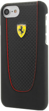 FERRARI - SF PIT STOP HARD CASE for iPhone 8/7  - Carbon ,  BLACK