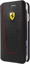 "Booktype, Ferrari ""PIT STOP"" Collection for iPhone 7, Carbon Fiber, Black."