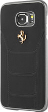 "Hard-case, Ferrari ""488"" Collection for Samsumg Note 5, Genuine Leather, Black."