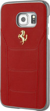 "Hard-case, Ferrari ""488"" Collection for Samsumg S7, Genuine Leather, Red."