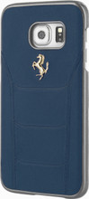 "Hard-case, Ferrari ""488"" Collection for Samsumg S7, Genuine Leather, Blue."