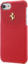 Hard-case, Ferrari LUSSO for iPhone 7, Genuine Leather, Red. Luxmart.ca