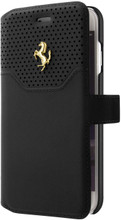 Booktype, Ferrari LUSSO for iPhone 7, Genuine Leather, Black.