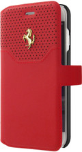 Booktype, Ferrari LUSSO for iPhone 7, Genuine Leather, Red.