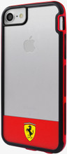 """Hard-case, Ferrari """"SHOCKPROOF SERIES 3"""" COLLECTION for iPhone 7, TRANSPARENT- TPU, Red."""