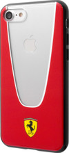 Hard-case, Ferrari Aperta COLLECTION for iPhone 7, TRANSPARENT- TPU, Red.