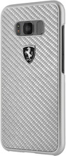 Hard-case, Ferrari HERITAGE COLLECTION for Samsung S8, Carbon Fiber, Silver.