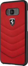 Hard-case, Ferrari HERITAGE COLLECTION for Samsung S8 Plus, Genuine Leather, Red.