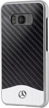 Hard Case, Mercedes-Benz WAVE V for Samsung S8, Carbon Fiber & Brushed Aluminium, Black