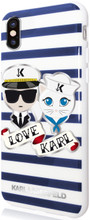 Karl Lagerfeld, Case for iPhone X, Accessories, Sailors - Stripes