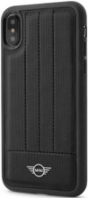 Mini,( Mini Cooper), Case for iPhone X,  Hybrid Case ,  Debossed Lines , Leather - Black