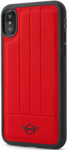 Mini,(Mini Cooper ) , Case for iPhone X,  Hybrid Case ,  Debossed Lines , Leather - Red