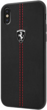 "Ferrari , Case for iPhone X, Collection ""HERITAGE"" , W vertical contrasted stripe - Black"