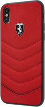"""Ferrari , Case for iPhone 8 ( New iPhone 2017 ), collection """"HERITAGE"""" , Genuine leather , Quilted - Red"""