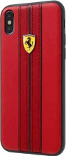 Ferrari , case for iPhone 8 ( new iPhone 2017 ),  leather  - ON TRACK LOGO- Red