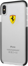 Ferrari, Case for iPhone X , SHOCKPROOF, Transparent - Black