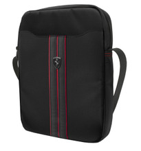 "Ferrari, Tablet Bag 10"", collection ""URBAN"" - Black with Red Piping"