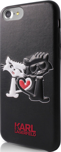 "Karl Lagerfeld ,  Embossed Case for iPhone 8/7 , collection ""CHOUPETTE IN LOVE"" ,  Black"