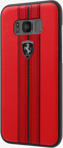 Hard-case, Ferrari URBAN Collection for Samsung S8 Plus, Genuine Leather, Red.