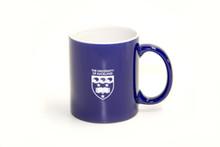 Sports Crest ceramic mug. Blue