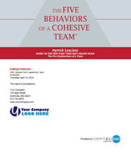 The Five Behaviors of a Cohesive Team Profile