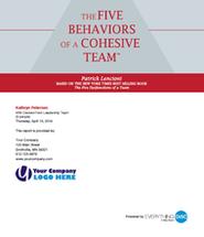 The Five Behaviors of a Cohesive Team Profile
