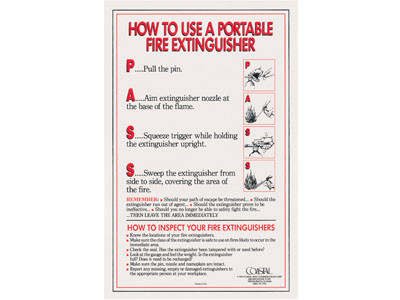 fire extinguishers poster fire prevention training
