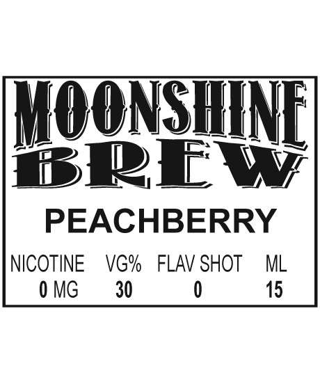 MOONSHINE BREW PEACHBERRY - E-Juice - E-Liquid - Electronic Cigarettes - ECig - Ejuice - Eliquid - Vape - Vapor - Vaping - Pickering - Ajax - Whitby - Oshawa - Toronto - Ontario - Canada