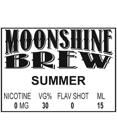 MOONSHINE BREW SUMMER - E-Juice - E-Liquid - Electronic Cigarettes - ECig - Ejuice - Eliquid - Vape - Vapor - Vaping - Pickering - Ajax - Whitby - Oshawa - Toronto - Ontario – Canada